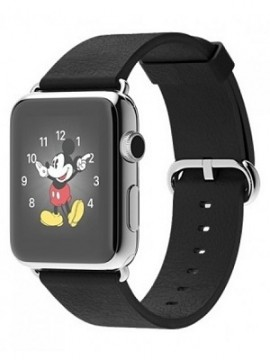 Apple Watch 42mm Stainless Steel Case with Black Classic Buckle (MJ3X2)