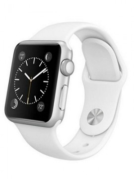Apple Watch 38mm Stainless Steel with White Sport Band (MJ302)