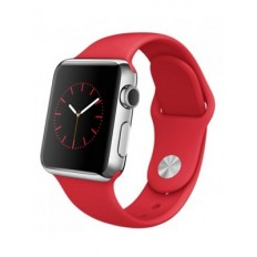 Apple Watch 38mm Stainless Steel Case with Product RED Sport Band (MLLD2)