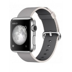 Apple Watch 38mm Stainless Steel Case with Pearl Woven Nylon (MMFH2 )