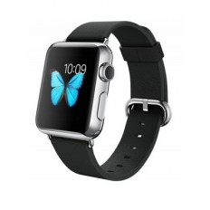 Apple Watch 38mm Stailnless Steel Case with Black Classic Buckle (MJ312)