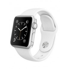 Apple Watch 38mm Stainless Steel with White Sport Band (MJ302) CPO