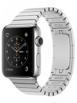 Apple Watch 38mm Stainless Steel Case with Stainless Steel Link Bracelet (MJ3E2)