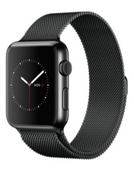 Apple Watch 42mm Space Black Stainless Steel Case with Space Black Milanese Loop (MMG22)