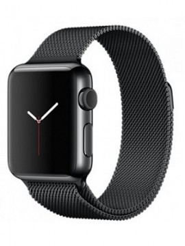 Apple Watch 38mm Space Black Stainless Steel Case Space Black Milanese Loop (MMFK2)