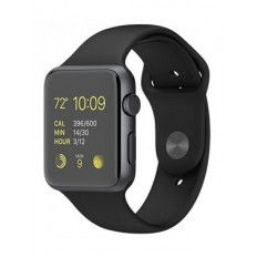 Apple Watch Sport 42mm Space Gray Aluminum Case with Black Sport Band (MJ3T2) CPO