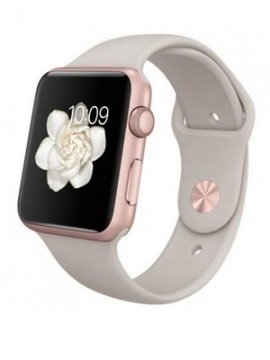 Apple Watch Sport 42mm Rose Gold Aluminum Case with Stone Sport Band (MLC62) CPO