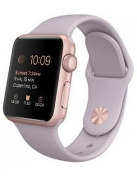 Apple Watch Sport 38mm Rose Gold Aluminum Case with Lavender Sport Band (MLCH2) CPO