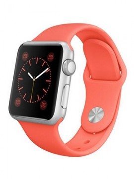 Apple Watch Sport 42mm Silver Aluminum Case with Pink Sport Band (MJ3R2)