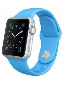 Apple Watch Sport 38mm Silver Aluminum Case with Blue Sport Band (MJ2V2)