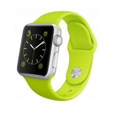 Apple Watch Sport 38mm Silver Aluminum Case with Green Sport Band (MJ2U2)