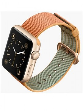 Apple Watch Sport 38mm Gold Aluminum Case with Gold/Red Woven Nylon (MMF52) - Новый распечатанный