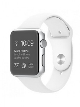 Apple Watch Sport 42mm Silver Aluminum Case with White Sport Band (MJ3N2) CPO - Новый распечатанный