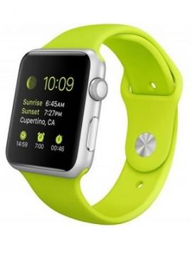 Apple Watch Sport 42mm Silver Aluminum Case with Green Sport Band (MJ3P2) - Новый распечатанный