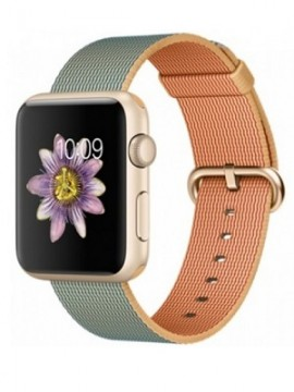 Apple Watch Sport 42mm Gold Aluminum Case with Gold/Royal Blue Woven Nylon (MMFQ2) - Новый распечатанный