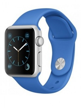 Apple Watch Sport 38mm Silver Aluminum Case with Royal Blue Sport Band (MMF22) - Новый распечатанный