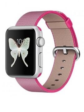 Apple Watch Sport 38mm Silver Aluminum Case with Pink Woven Nylon (MMF32) - Новый распечатанный