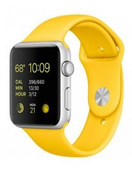 Apple Watch Sport 42mm Silver Aluminum Case with yellow Sport Band (MMFE2) - Новый распечатанный