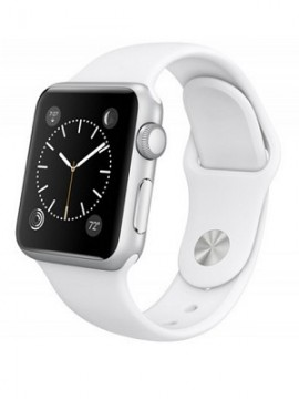 Apple Watch Sport 38mm Silver Aluminum Case with White Sport Band (MJ2T2) CPO - Новый распечатанный