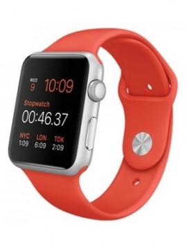 Apple Watch Sport 42mm Silver Aluminium Case Orange Sport Band Silver (MLC42) - Новый распечатанный
