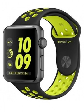Apple Watch Nike+ 38mm Space Gray Aluminum Case with Black/Volt Nike Sport Band (MP082) - Новый распечатанный