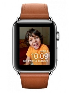 Apple Watch Series 2 38mm Stainless Steel Case with Saddle Brown Classic Buckle Band (MNP72) - Новый распечатанный