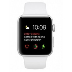 Apple Watch Series 2 38mm Silver Aluminum Case with White Sport Band (MNNW2) - Новый распечатанный