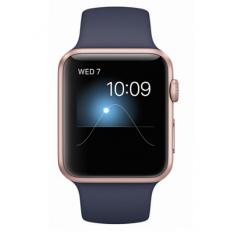 Apple Watch Series 2 42mm Rose Gold Aluminum Case with Midnight Blue Sport Band (MNPL2) - Новый распечатанный