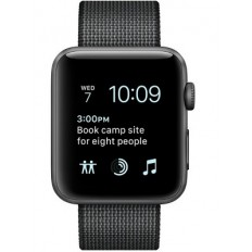 Apple Watch Series 2 38mm Space Gray Aluminum Case with Black Woven Nylon Sport Band (MP052) - Новый распечатанный
