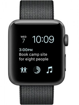 Apple Watch Series 2 38mm Space Gray Aluminum Case with Black Woven Nylon Sport Band (MP052) - Новый распечатанный