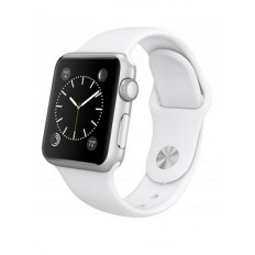 Apple Watch Sport 42mm Silver Aluminum Case with White Sport Band (MJ3N2) CPO