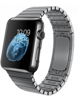 Apple Watch 42mm Space Black Case with Space Black Stainless Steel Link Bracelet (MJ482)