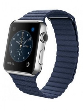 Apple Watch 42mm Stainless Steel Case with Midnight Blue Leather Loop (MLFD2) - Новый распечатанный