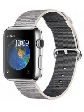 Apple Watch 42mm Stainless Steel Case with Pearl Woven Nylon (MMG02) - Новый распечатанный