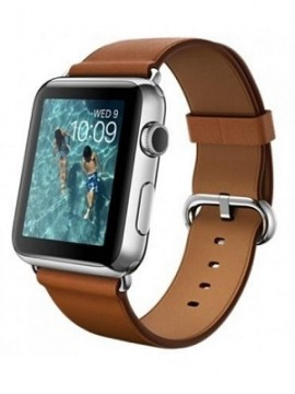 Apple Watch 42mm Stainless Steel Case with Saddle Brown Classic Buckle (MLC92) - Новый распечатанный