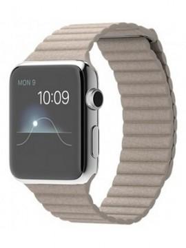 Apple Watch 42mm Stainless Steel Case with Stone Leather Loop (MJ432) - Новый распечатанный