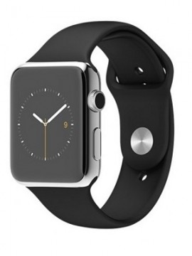 Apple Watch 42mm Stainless Steel Case with Black Sport Band (MJ3U2) - Новый распечатанный