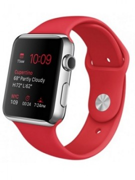 Apple Watch 42mm Stainless Steel Case with Product RED Sport Band (MLLE2) - Новый распечатанный