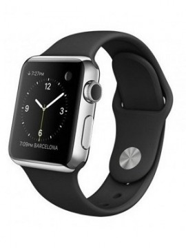 Apple Watch 38mm Stainless Steel Case with Black Sport Band (MJ2Y2) - Новый распечатанный