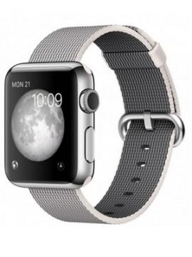 Apple Watch 38mm Stainless Steel Case with Pearl Woven Nylon (MMFH2 ) - Новый распечатанный