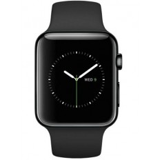 Apple Watch 42mm Space Black Stainless Steel Case with Black Sport Band (MLC82) - Новый распечатанный