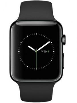 Apple Watch 42mm Space Black Stainless Steel Case with Black Sport Band (MLC82) - Новый распечатанный