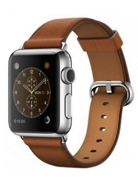 Apple Watch 38mm Stainless Steel with Saddle Brown Classic Buckle (MMF72) - Новый распечатанный