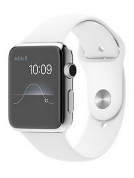 Apple Watch 42mm Stainless Steel Case with White Sport Band (MJ3V2) - Новый распечатанный