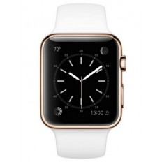 Apple Watch Edition 38mm 18-Karat Rose Gold Case with White Sport Band (MJ8P2)