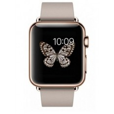 Apple Watch Edition 38mm 18-Karat Rose Gold Case with Rose Gray Modern Buckle (MJ3K2) - Новый распечатанный