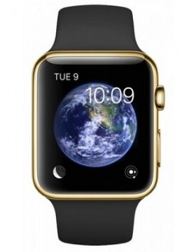 Apple Watch Edition 42mm 18-Karat Yellow Gold Case with Midnight Blue Classic Buckle (MJVT2) - Новый распечатанный