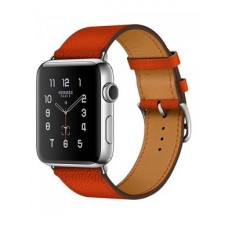 Apple Watch Hermes 42mm Series 2 Stainless Steel Case with Feu Epsom Leather Single Tour (MNQ22) - Новый распечатанный