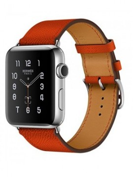 Apple Watch Hermes 42mm Series 2 Stainless Steel Case with Feu Epsom Leather Single Tour (MNQ22) - Новый распечатанный