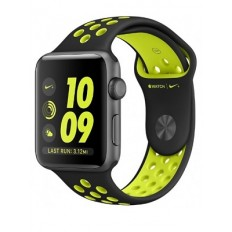 Apple Watch Nike+ 42mm Space Gray Aluminum Case with Black/Volt Nike Sport Band (MP0A2) - Новый распечатанный